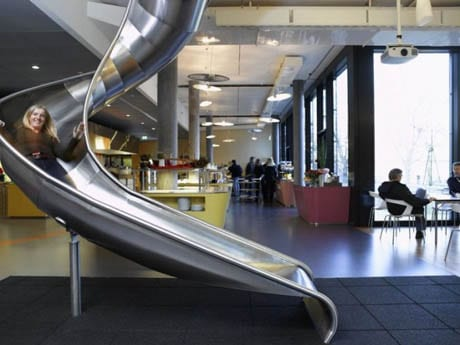 google office in uk. putting a slide in the office isnu0027t just so people can get to one floor another quickly its almost supernatural see that youu0027d normally google uk