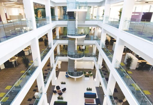 Hargreaves-lansdown-atrium-look-down-bristol-office-design-business-interiors
