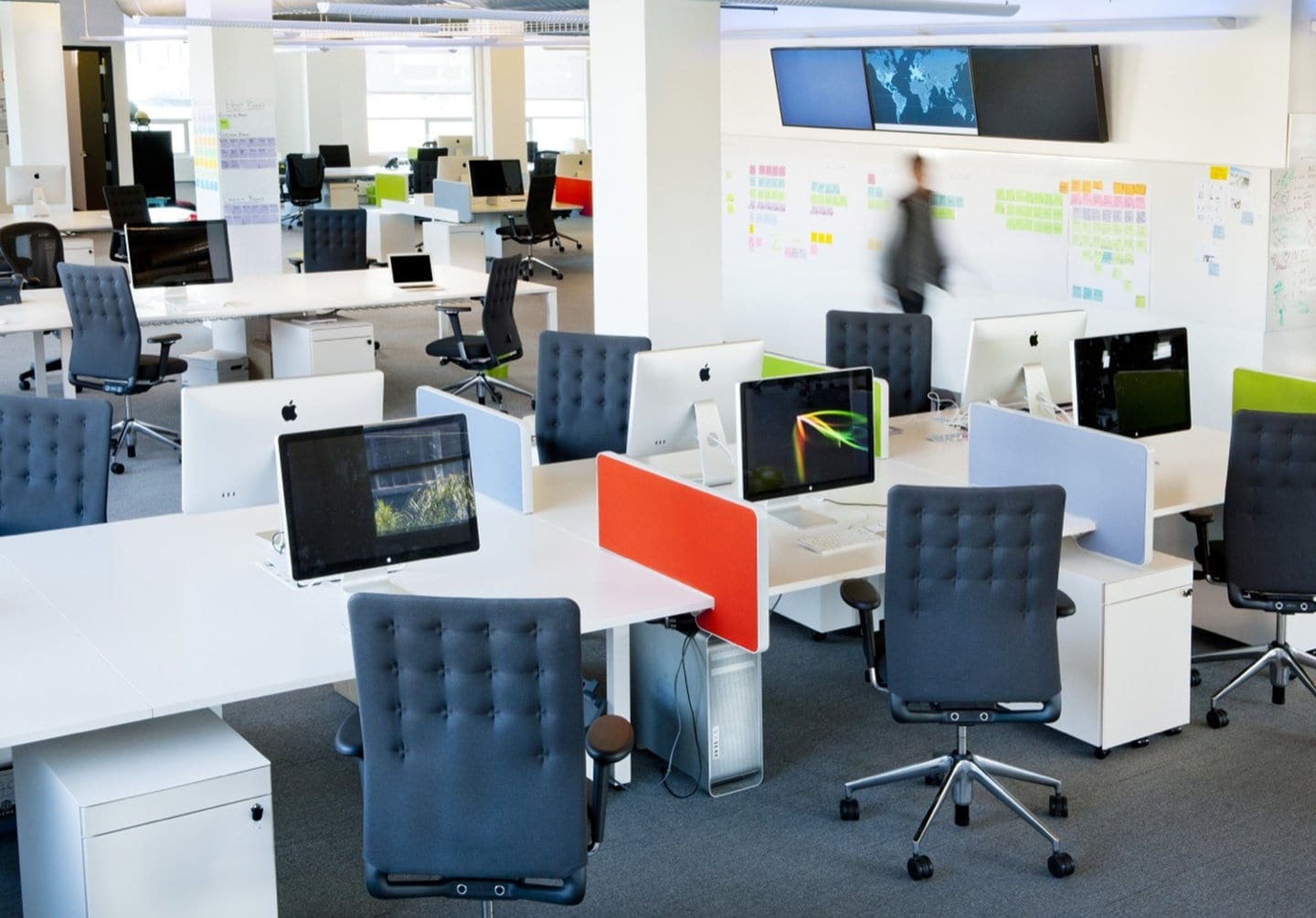 airbnb cool office design office interiors open plan workstations taks chairs airbnb cool office design