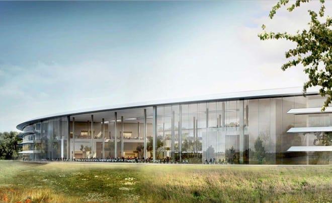 apple-new-corporate-headquarters-cupertino-cafetria-through-building
