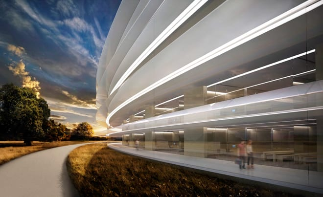 apple-new-corporate-headquarters-cupertino-outside-curve-pathways