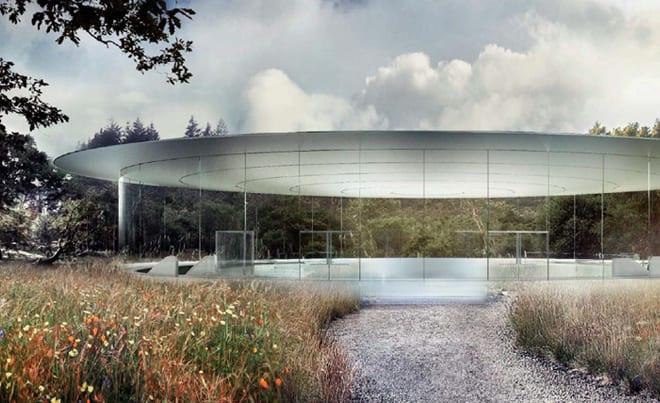 apple-new-corporate-headquarters-cupertino-pillarless-auditiorium-entrance-events-underground-entrance