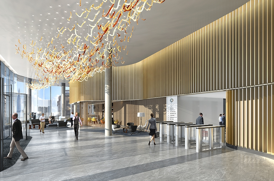 33 Central London Office Design Reception Double Height