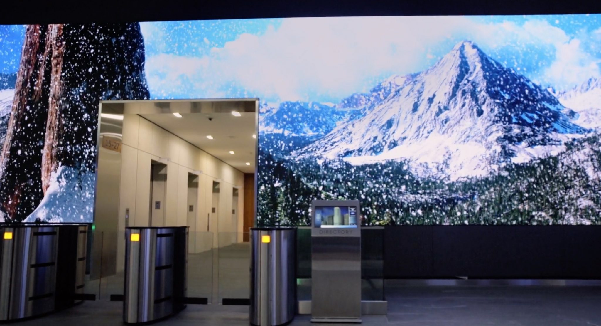 video-wall-snow-mountain-office-reception-lobby-salesforce